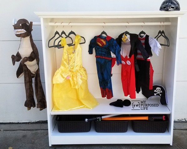 kids armoire for dress up clothes MyRepurposedLife