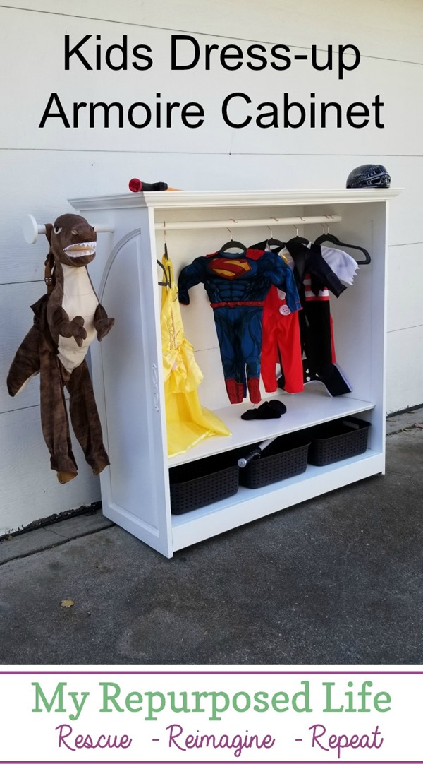 kids dress up armoire cabinet MyRepurposedLife