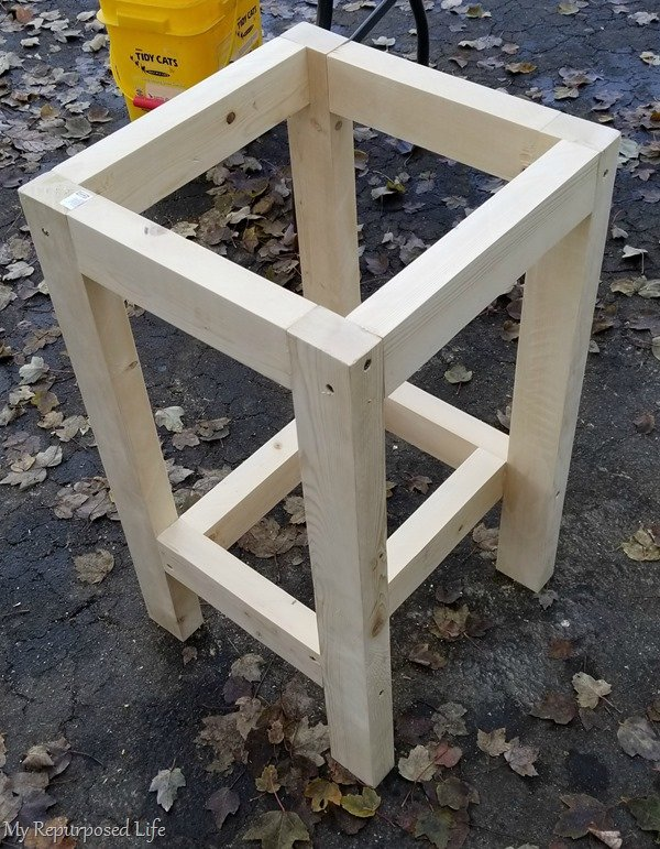 base of simple table to hold printer