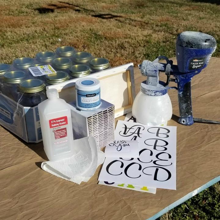 materials for Mason Jar Tissue Holders