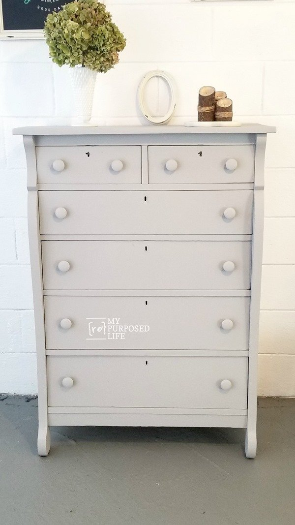 Antique Chest Of Drawers Easy Makeover My Repurposed Life Rescue Re Imagine Repeat