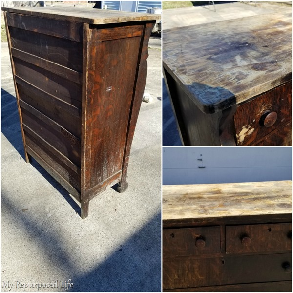 beat up chest of drawers