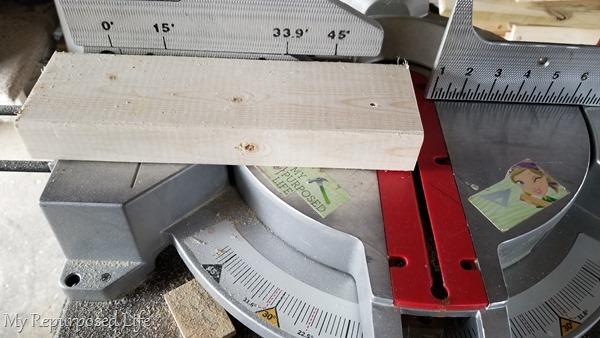 cut 2x4 on miter saw