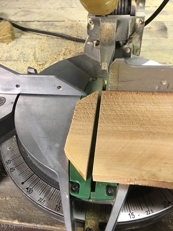 cut off dog eared fence board