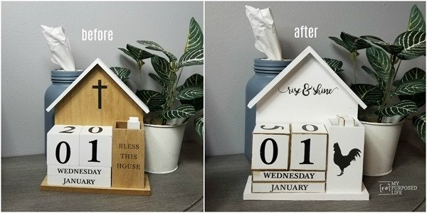 farmhouse perpetual calendar before and after My Repurposed Life