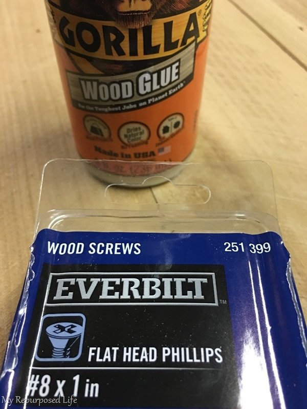 glue and screws for simple shutters