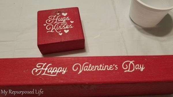 red 2x4 valentine blocks