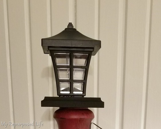 solar lantern for welcome porch post