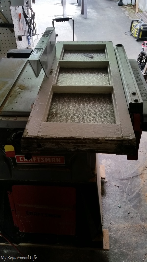 carefully cut window on table saw