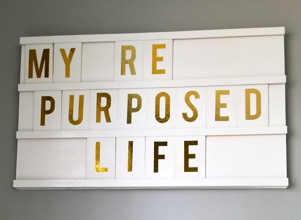 MyRepurposedLife DIY Letter Board