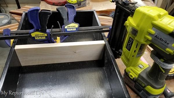 attach shelf with nail gun