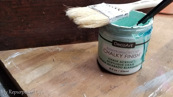 chalky finish paint and paint brush