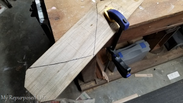 clamp reclaimed fence boards while cutting