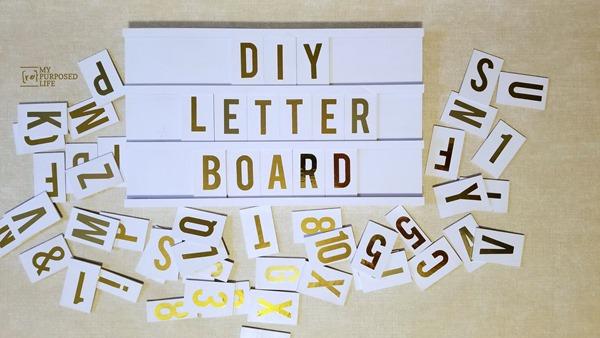letter board sign wall art MyRepurposedLife