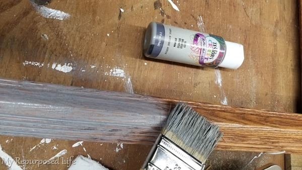 paint wooden frame gray