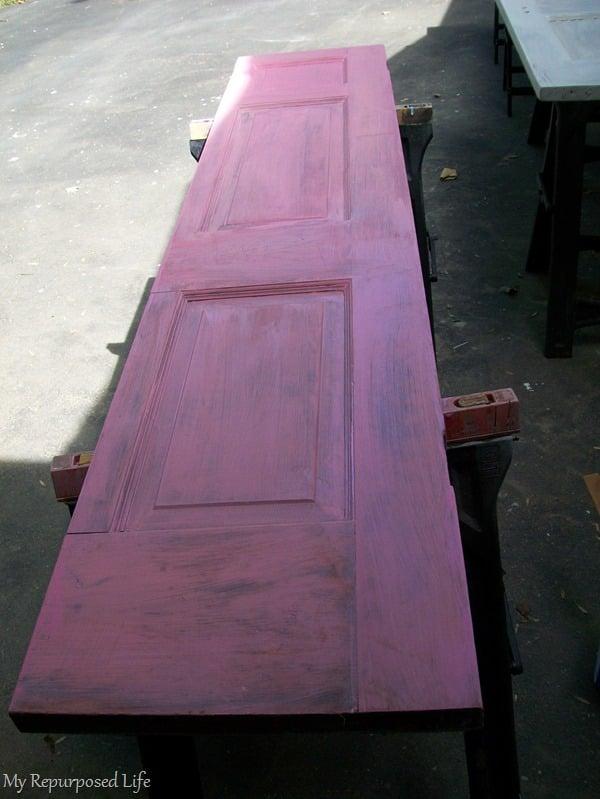 pink primer under red paint