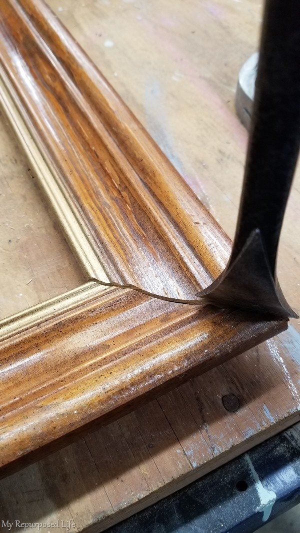 pry picture frame apart
