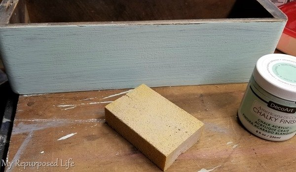 sand between coats of chalky finish paint