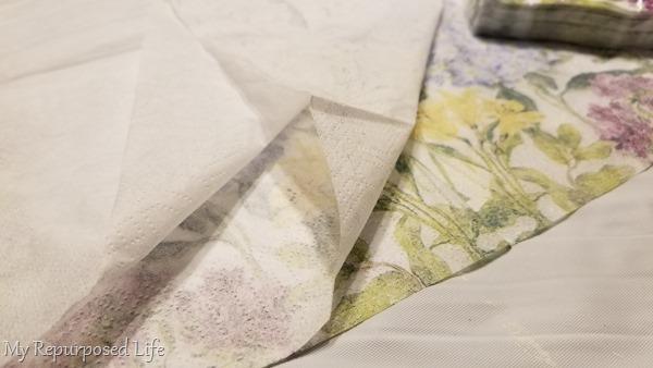 separate 3 ply napkin