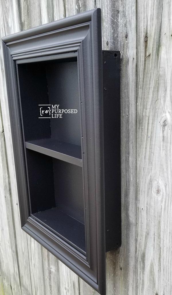side view of black shadow box MyRepurposedLife