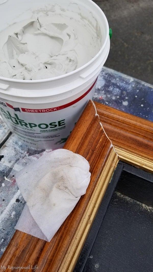 use drywall mud instead of wood filler