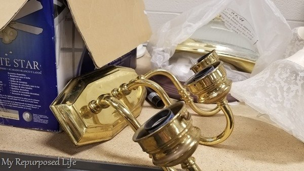 brass vanity light