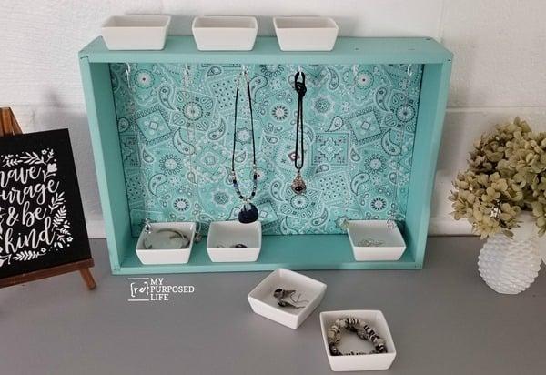 diy repurposed drawer jewelry organizer MyRepurposedLife