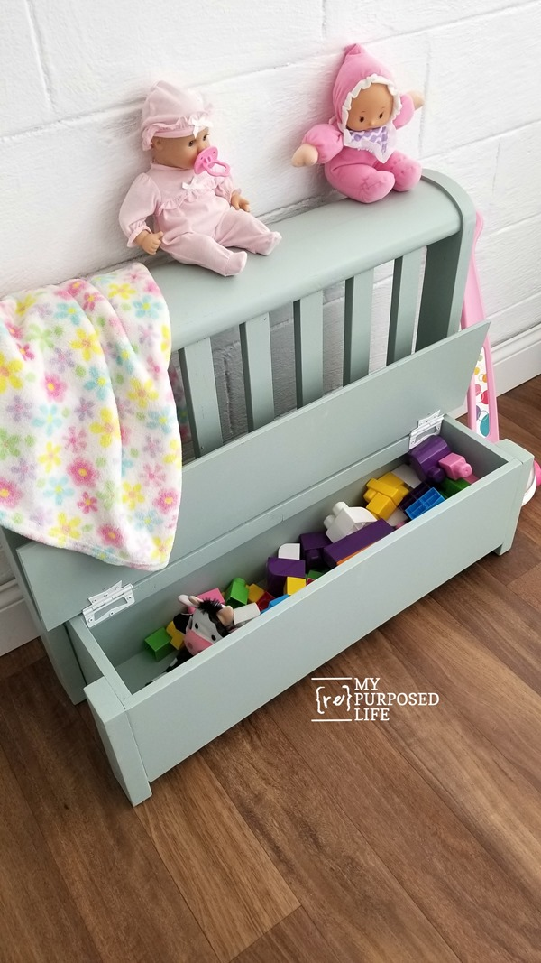headboard toy box bench MyRepurposedLife