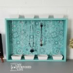 Repurposed Drawer Jewelry Organizer