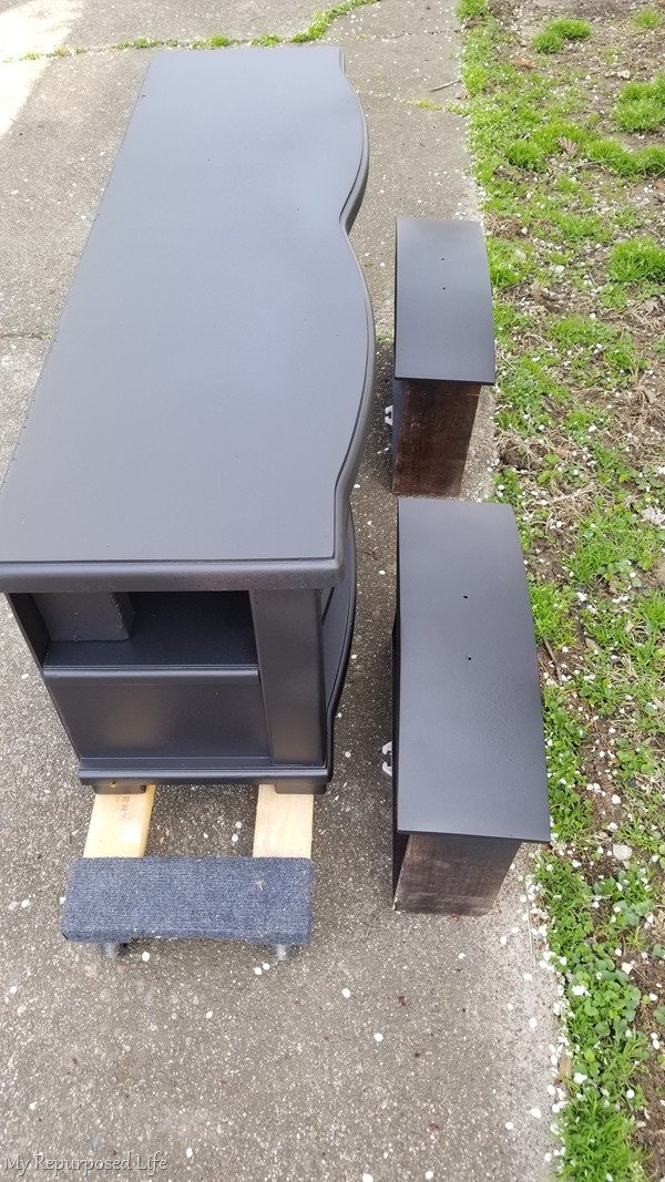 move diy tv stand on furniture dollies