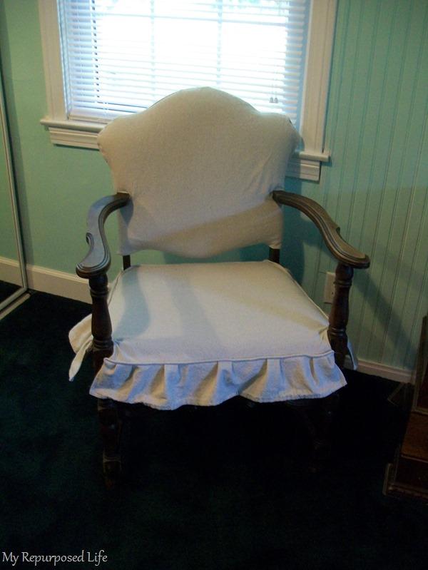easy slipcover for thrift store chair