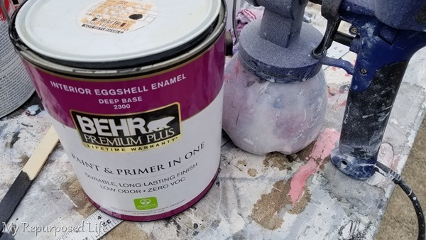 paint for sewing cabinet lid