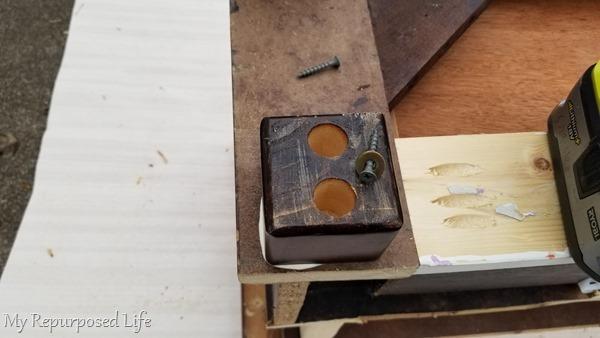 reattach coffee table feet