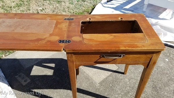 side table sewing cabinet
