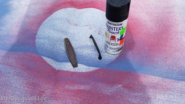 spray paint hardware