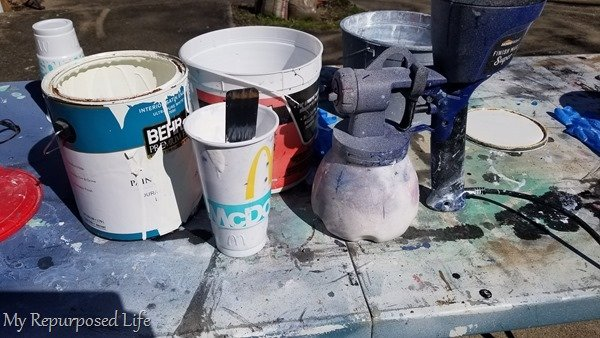 white chalky paint primer