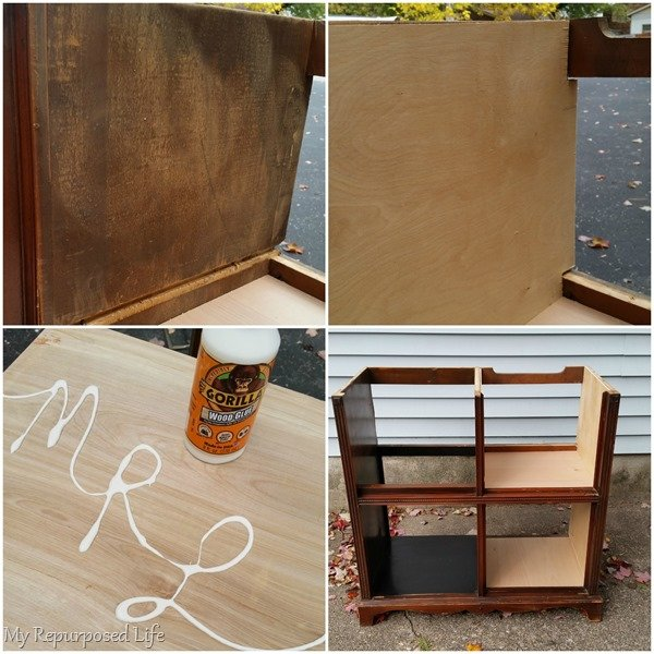 add thin plywood to radio cabinet