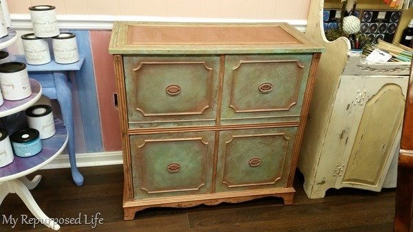 antique cabinet faux finish