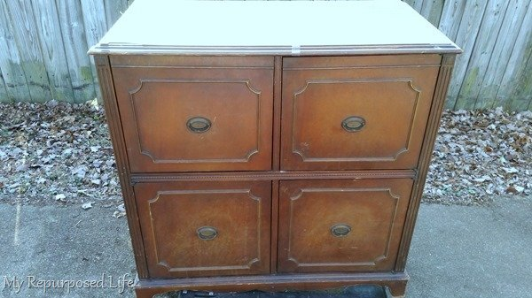 antique record radio cabinet makeover