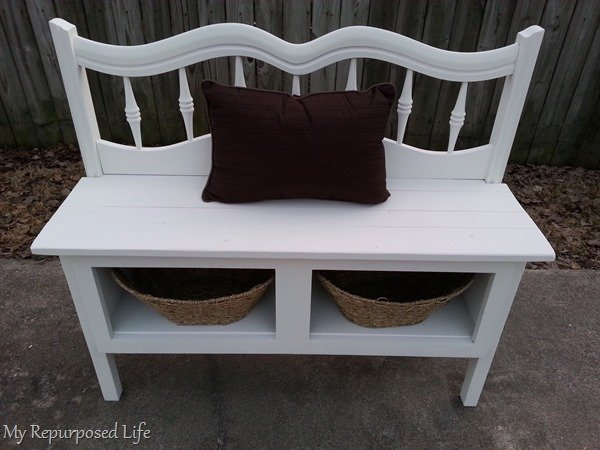 white headboard entryway bench
