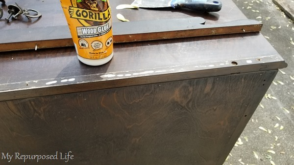 make repairs on antique chest of drawers
