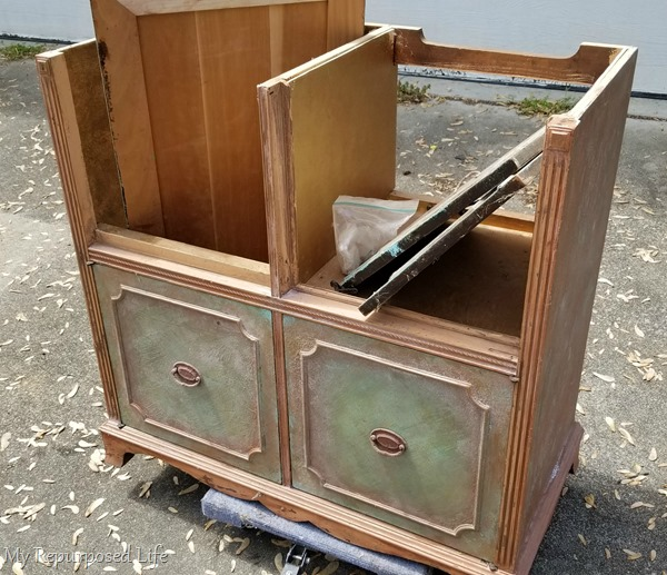 record radio cabinet gets a new makeover