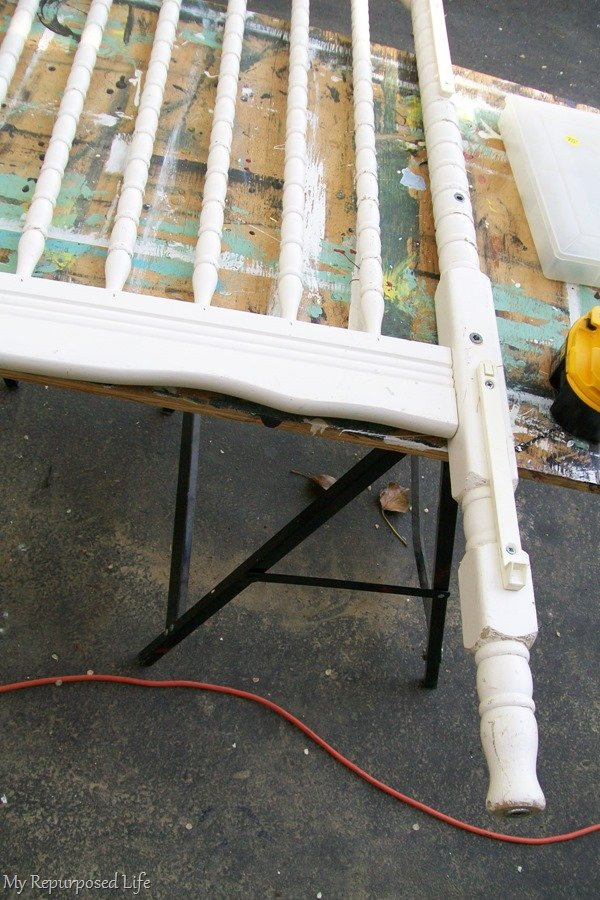 repurposed crib legs