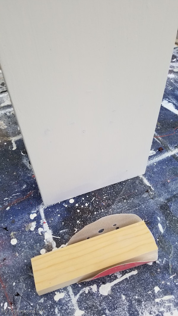 sanding block removes drywall patching