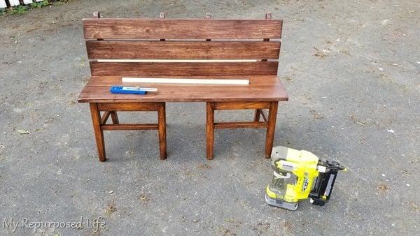 scrap wood separates wooden planks