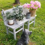 Repurposed Garden Bench made from Chairs