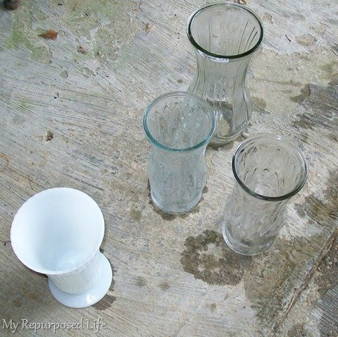 spray painting glassware tutorial