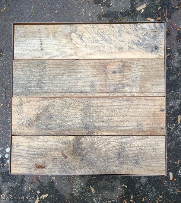 pallet top side table boards