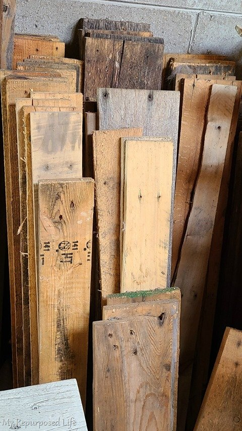 pallet wood boards for side tables
