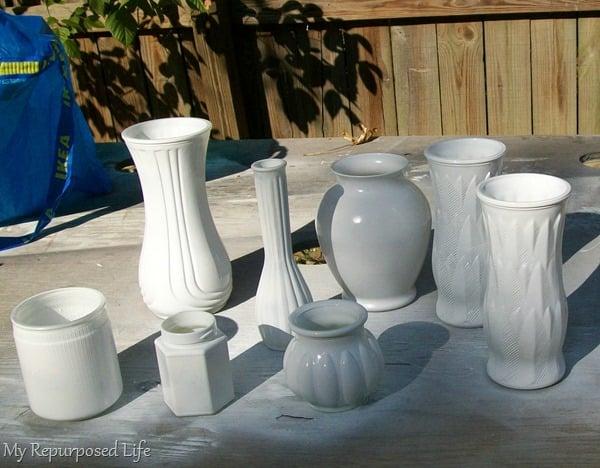 spray painting glassware